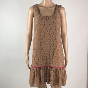 A`reve Dress Layered Lace Sleeveless Drop Waist